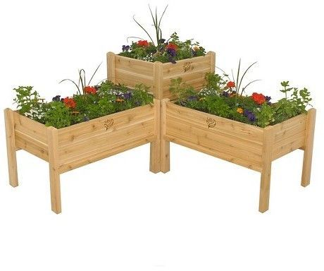 Gro Products Elevated Garden Bed Combo Red Cedar Garden Planter, Light  Brown | Elevated Garden Beds, Red Cedar And Garden Planters