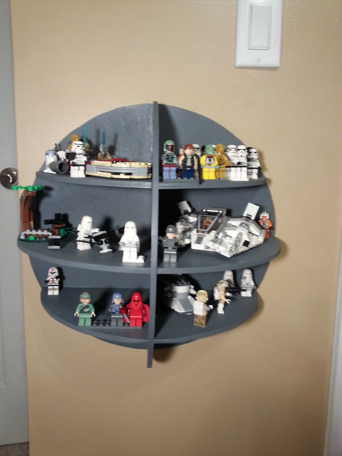 lego star wars death star display shelf by builtbybodiford on etsy furniture pinterest. Black Bedroom Furniture Sets. Home Design Ideas