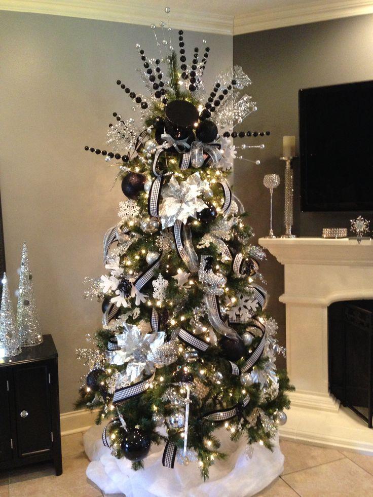 Fc49c542ca73eb0d23a0f248320a3f8d Jpg 736 981 Black Christmas Trees Unusual Christmas Trees Christmas Tree Themes