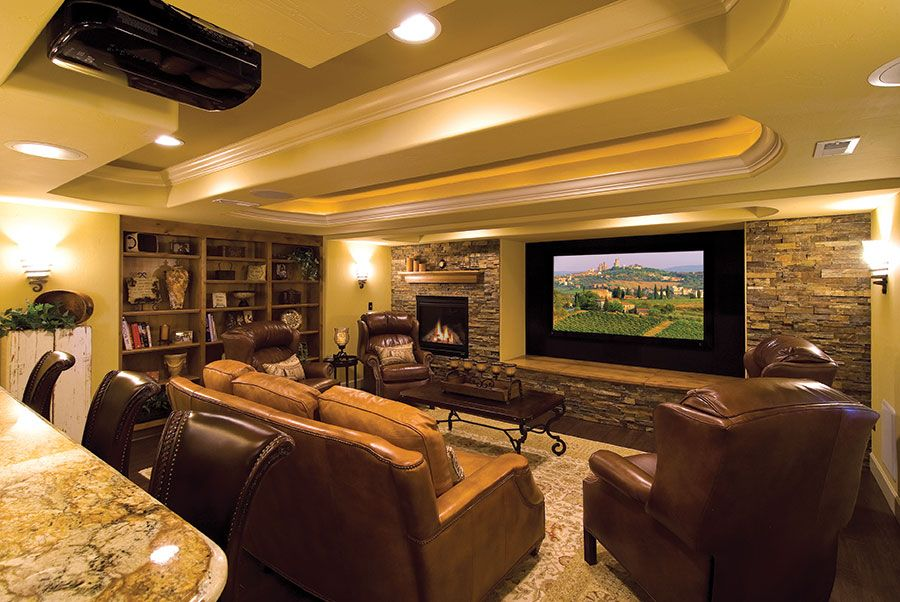 23 basement home theater design ideas for entertainment for Basement home theater plans