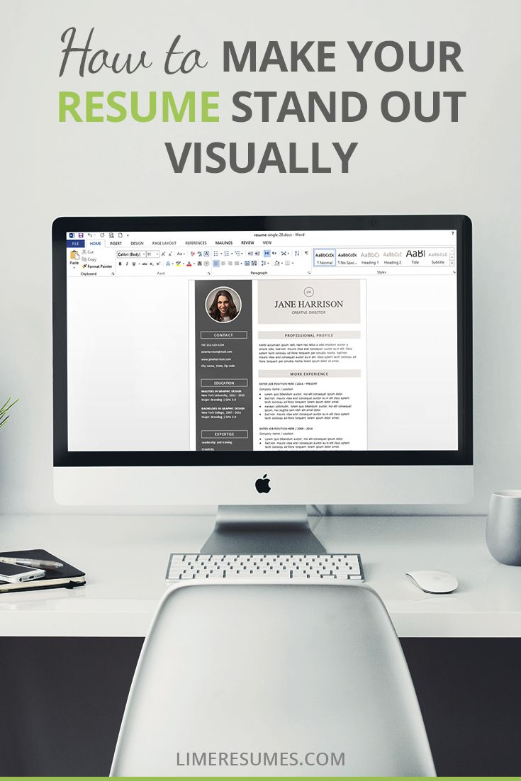 How To Make Your Resume Stand Out Custom How To Make Your Resume Stand Out Visually  Top Blogs And School