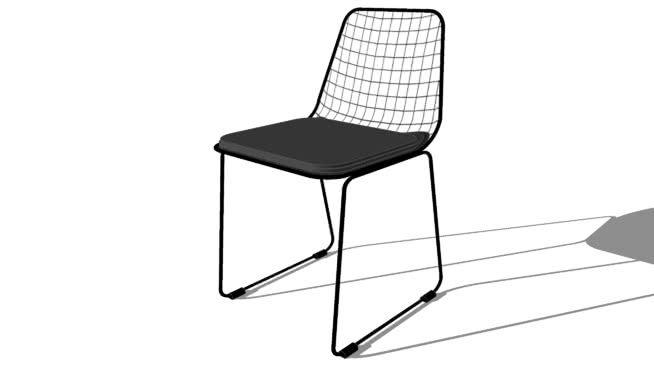 Picpus chaise en métal noire maisons du monde ref