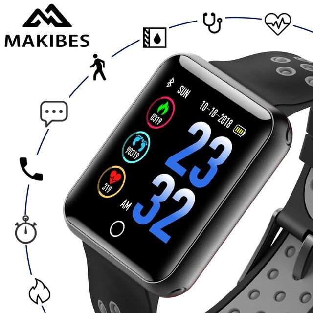 Makibes CK01 Smart Watches Men's Color Screen Tempered