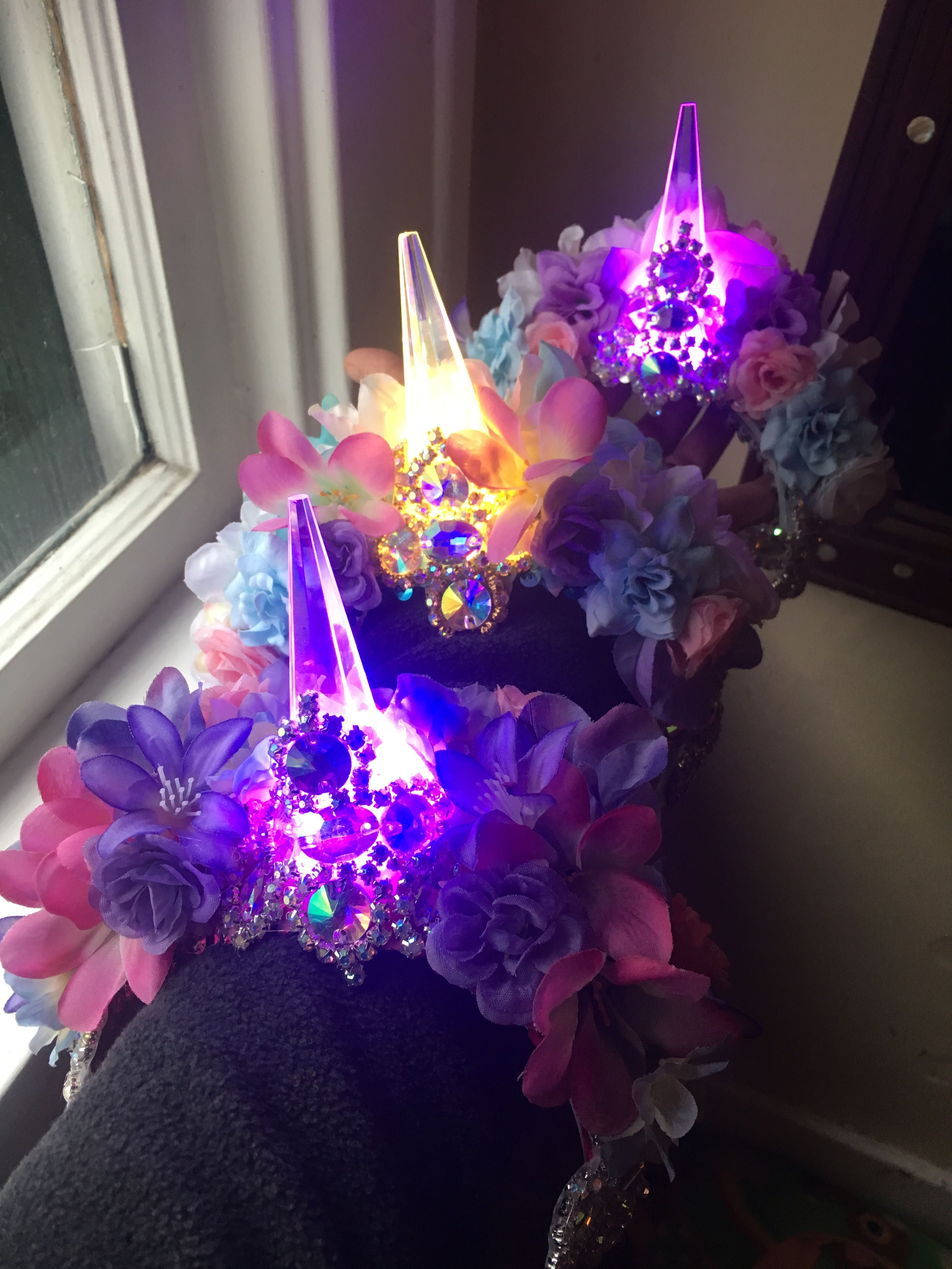 Provided 2018 New Led Glowing Flashing Foam Flower Headband Garland Wreath Women Girls Light Up Hairband Halloween Glow Party Supplies Street Price Event & Party