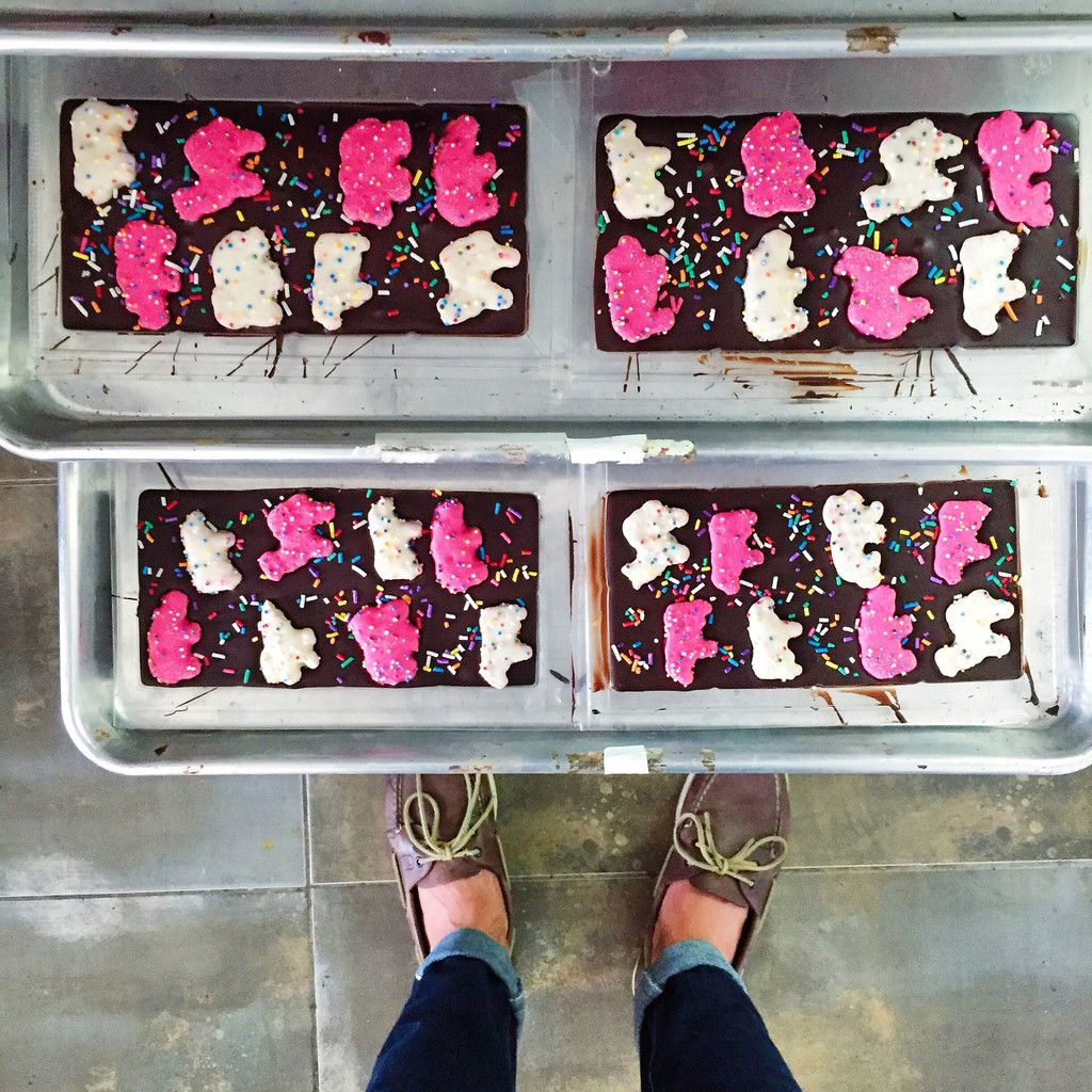 Animal Cookies Dark Chocolate Bar Pink Elephants   Gourmet, Bar ...