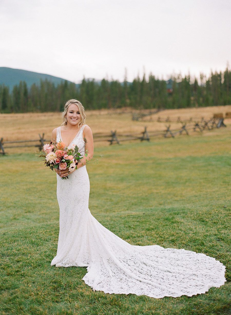 Rustic meets glam at this devilus thumb ranch wedding wedding