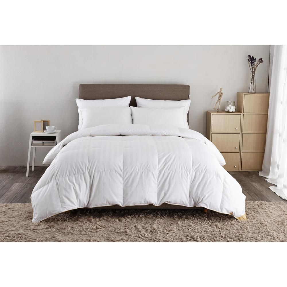 Puredown Year Round Warmth White Full Queen Down Comforter Pd