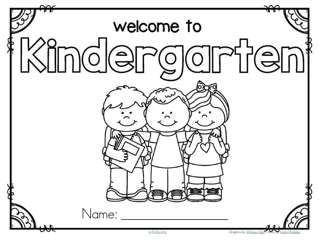 Kindergarten Coloring Pages And Worksheets Kindergarten Coloring