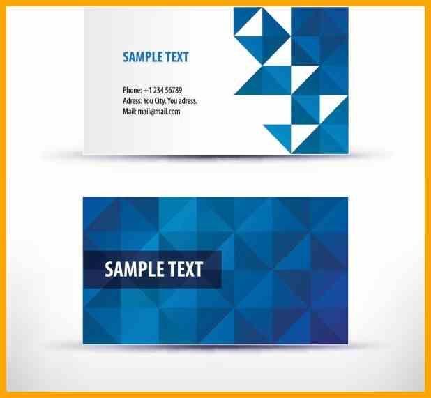 Visitenkarte Vorlage Blau Zusammen Mit Business Card