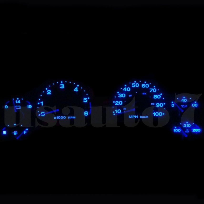 Dash Instrument Cluster Gauge Blue Smd Led Light Kit Fits 97 06