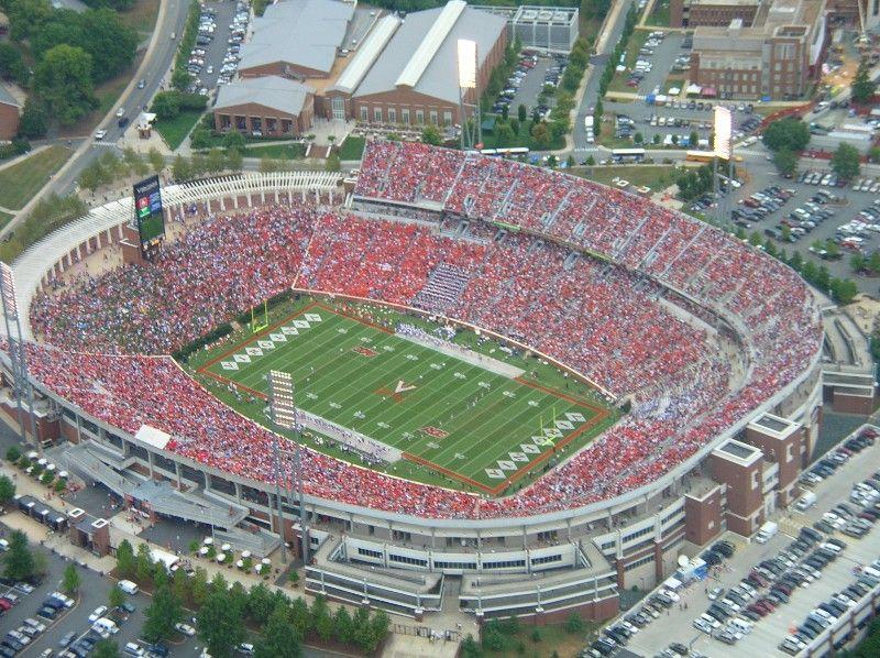 Scotts Stadium Charlottesville Va Google Search Football Stadiums University Of Virginia Football Ticket