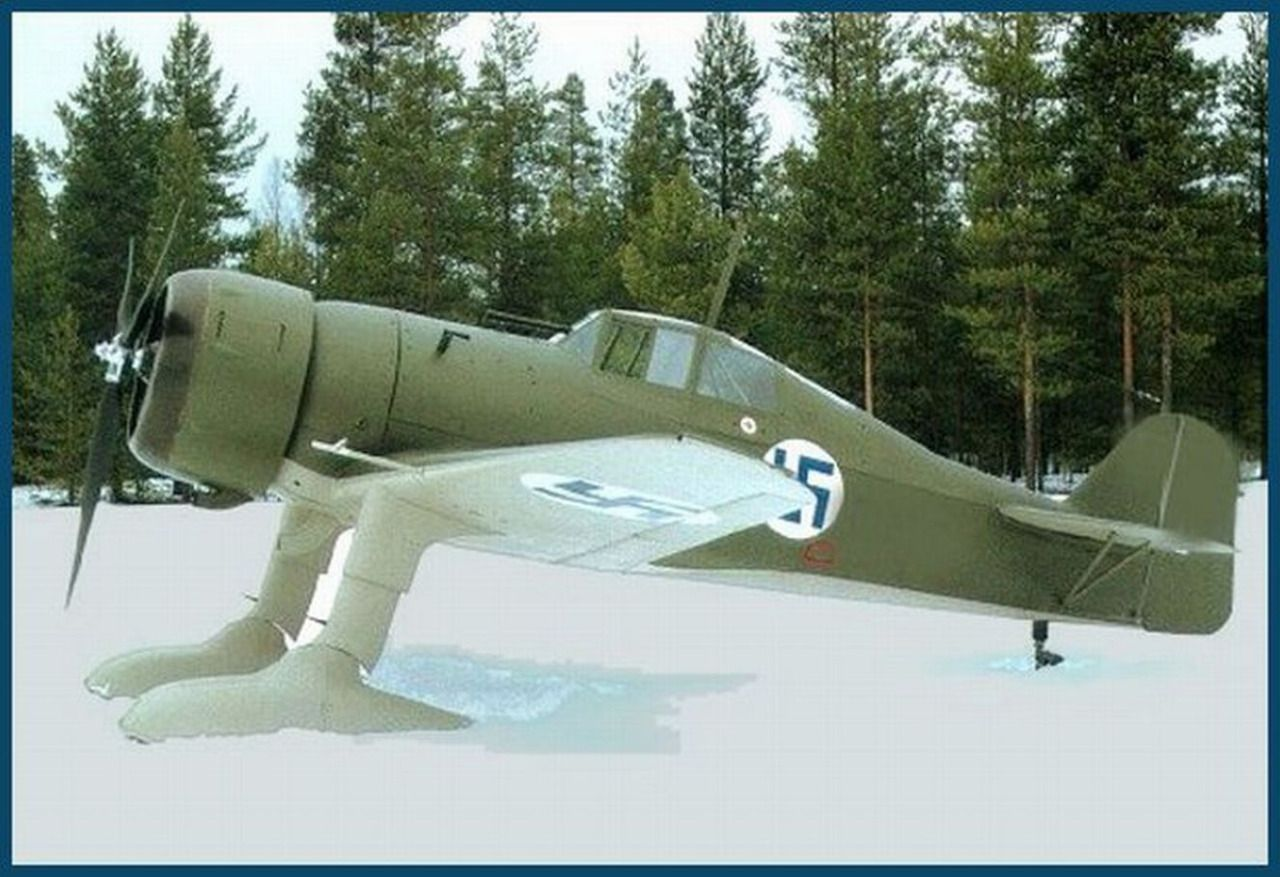 THE FINLAND AIR FORCE, is a ski-equipped Fokker DXXI