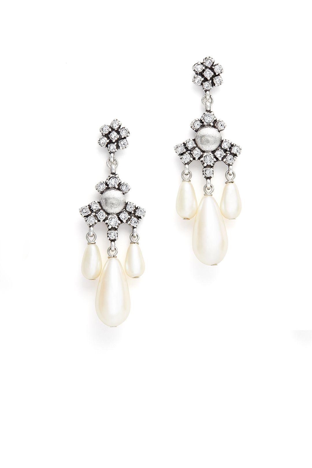 Buy Garden Soiree Earrings by Gerard Yosca for $45 from Rent the Runway.