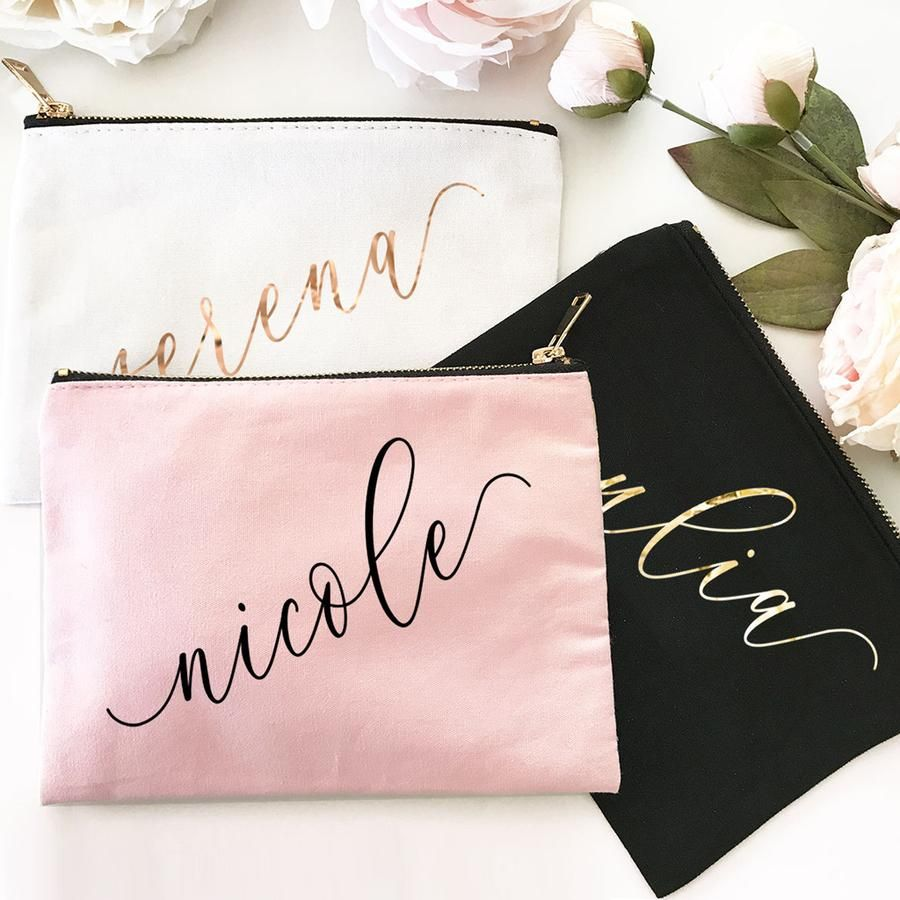 Custom Name Canvas Cosmetic Bags Bridesmaid bags