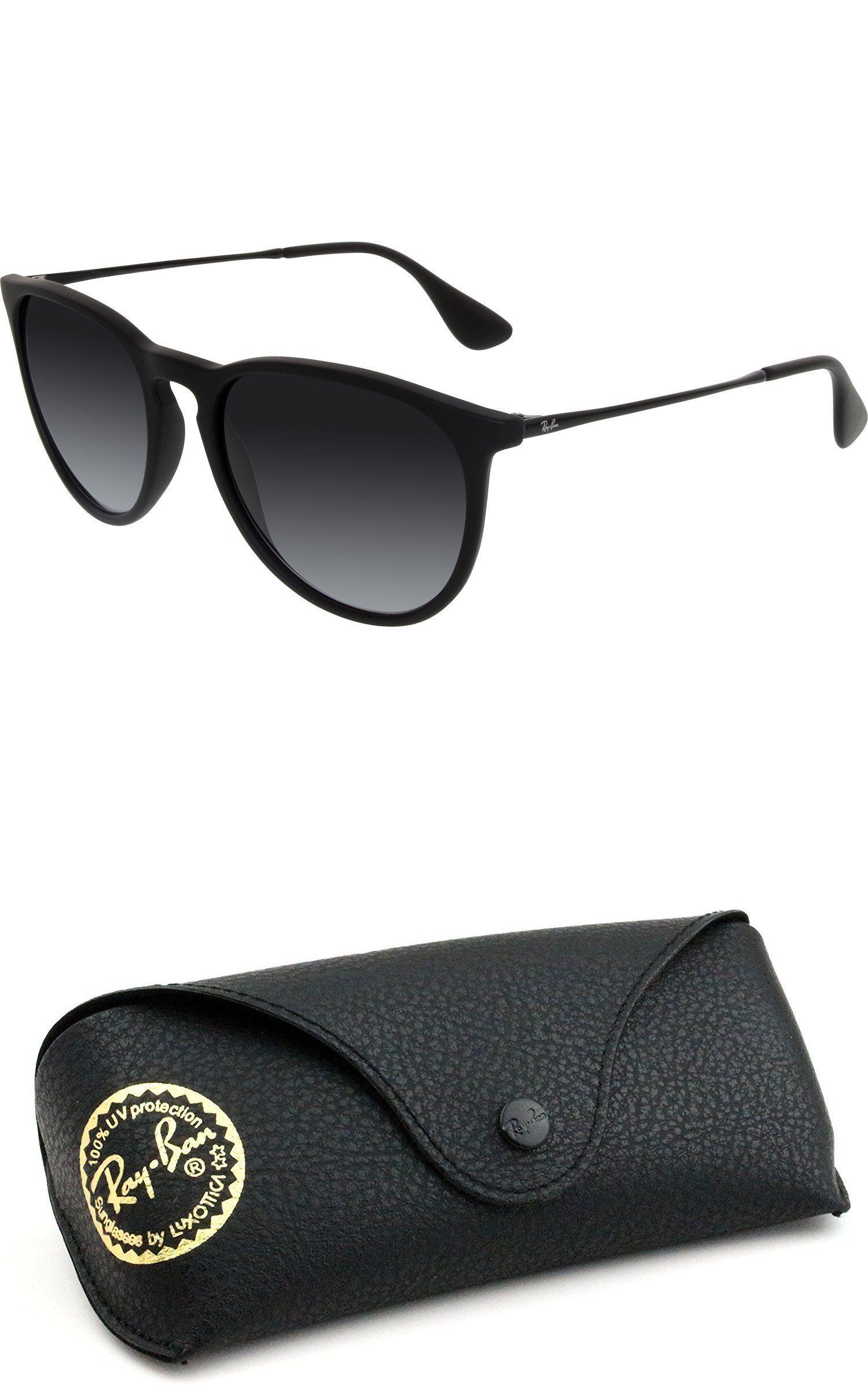 2cd5555290 ... cheapest sunglasses 45246 ray ban women s gradient erika rb4171 622 8g  54 black round c534c