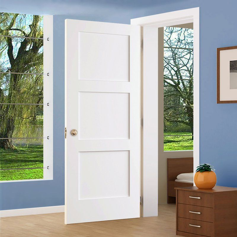 Paneled Solid Manufactured Wood Primed Shaker Standard Door White Interior Doors Shaker Interior Doors Pine Interior Doors
