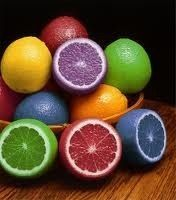 colorful grapefruits color healthy