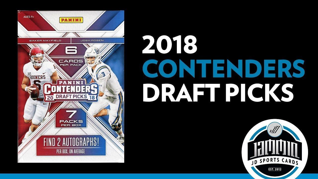 2018 panini contenders draft picks football blaster box