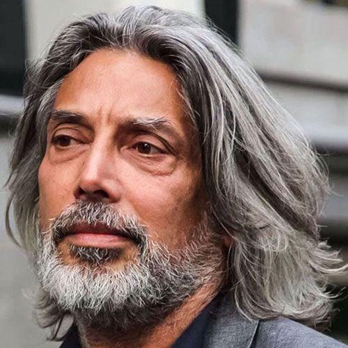 Long Grey Hair Thick Beard Grey Hair Men Long Hair Styles Men Long Gray Hair