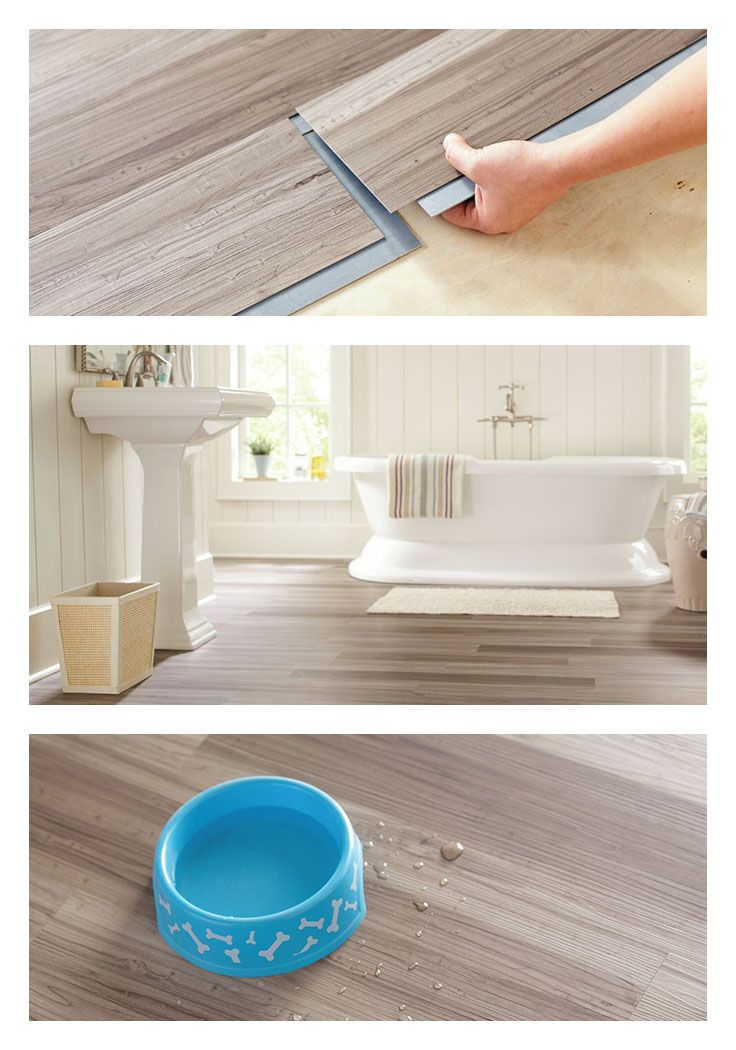 This Vinyl Plank Flooring In Dove Maple Adds The Warmth Of Wood To Your Home Even Your Bathroom With With Images Vinyl Plank Flooring Home Remodeling Floor Preparation