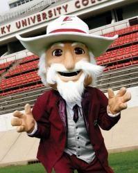 Eastern Kentucky Colonels Mascot The Eku Colonel Eastern Kentucky University Football Usa Mascot