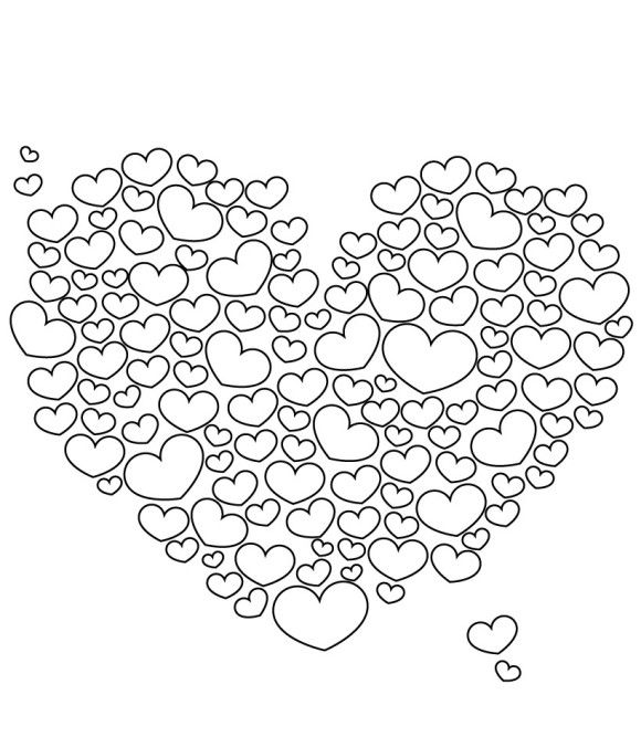 Lots Of Love Valentine Coloring Pages | coloring 2 | Pinterest ...
