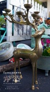 Deer Candle Holder from the #sacantiquefaire #holiday #decorations