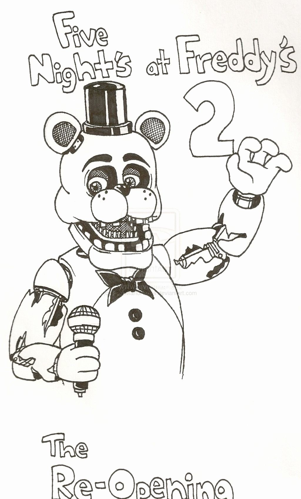 24 Five Nights At Freddy S Coloring Page In 2020 Fnaf