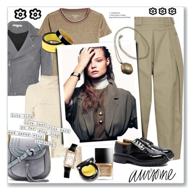 """""""25.02.18-2"""" by malenafashion27 ❤ liked on Polyvore featuring IRO, Majestic, Alexander Wang, Line, Marni, Magdalena, Tricker's, Chloé, Butter London and Hermès"""