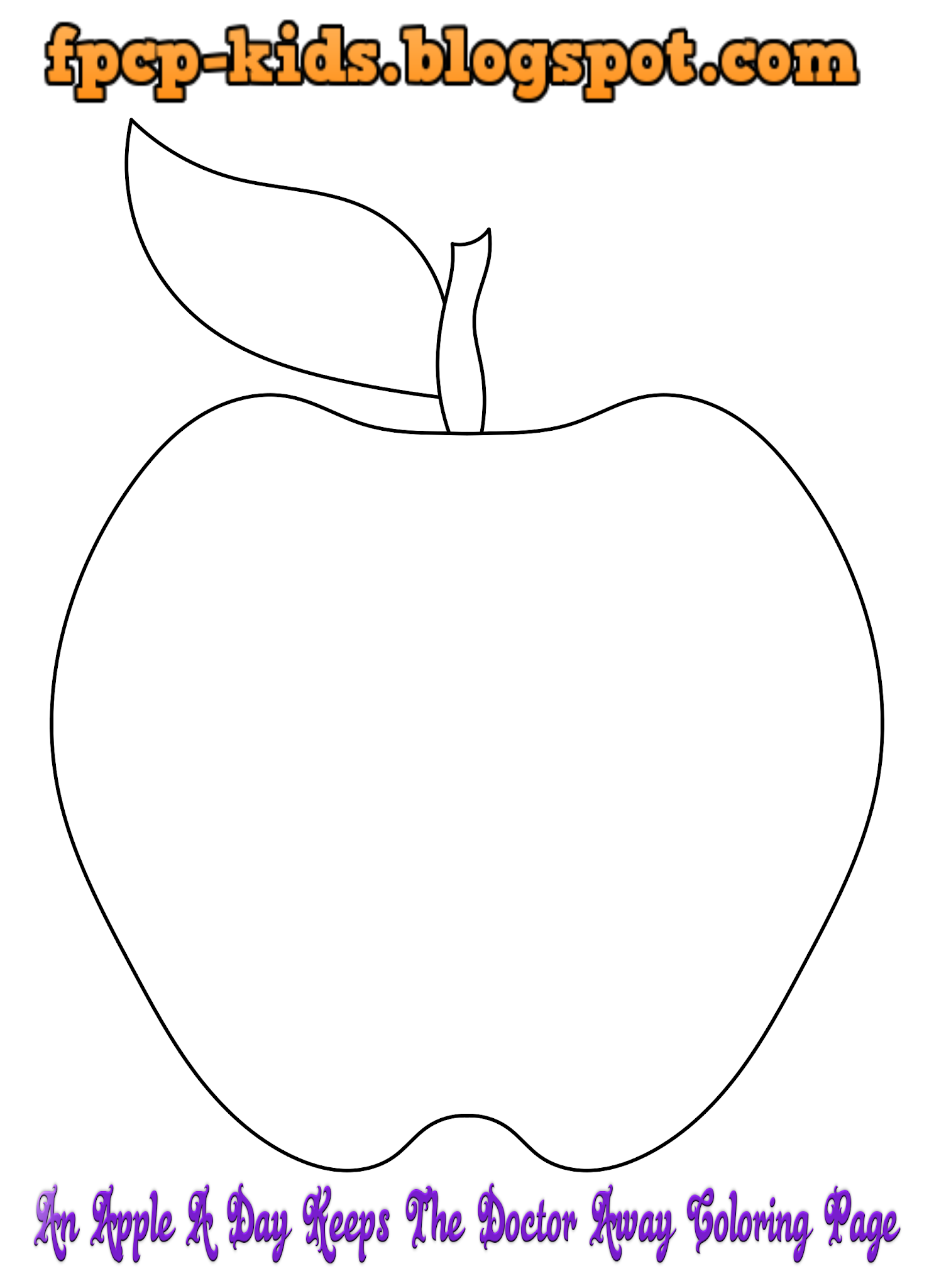 An Apple A Day Keeps The Doctor Away Coloring Page Apple Free Printable Coloring Pages