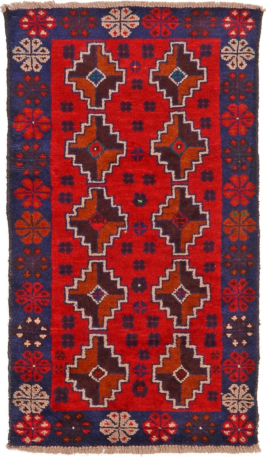 Red 2' 9 x 4' 7 Balouch Rug | Area Rugs | eSaleRugs