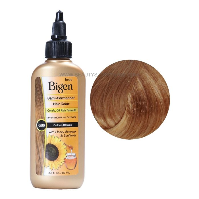 Bigen Semi Permanent Hair Color Gb6 Golden Blonde Hair Color
