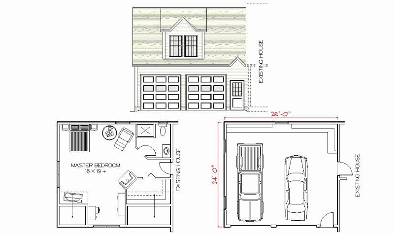 Master Bedroom Over Garage Addition Plans Unique Home