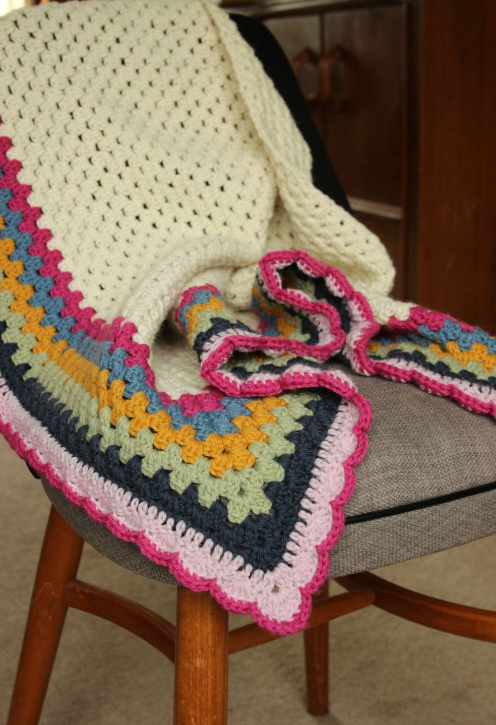 Really Easy Crochet Shawl A Simple Granny Triangle Pattern Free