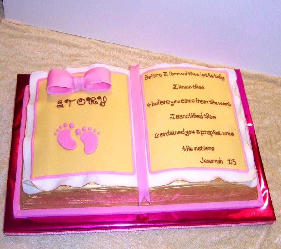 Baby Shower Cake For A Little Baby Girl Named Story....Her
