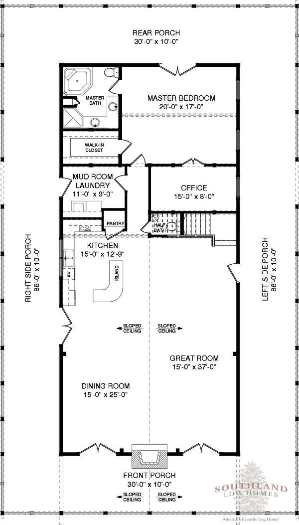 Sullivan Plans Information Log Cabin Floor Plans Log Homes Cabin Floor Plans