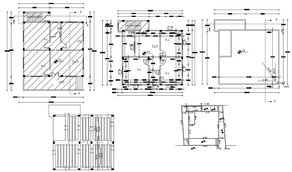House Building Construction Plan Autocad Drawing Cadbull In 2020 Building Construction Construction Plan Building A House