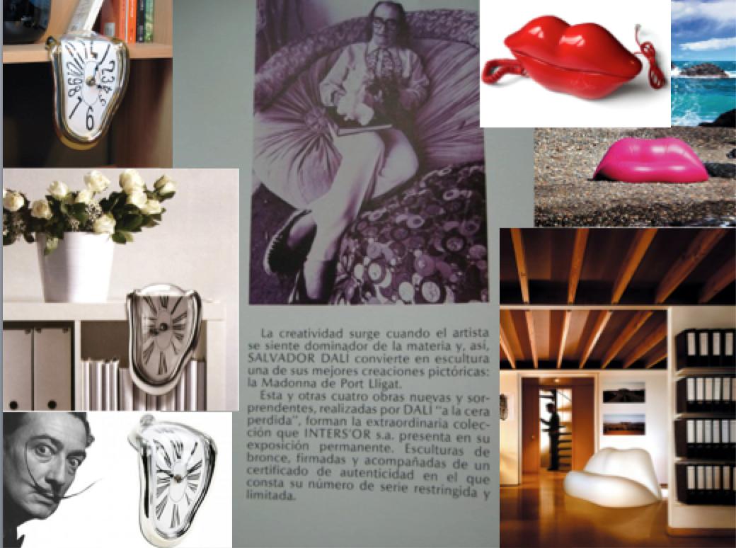 Algunas ideas de decoración inspiradas en las obras de Salvador Dalí.
