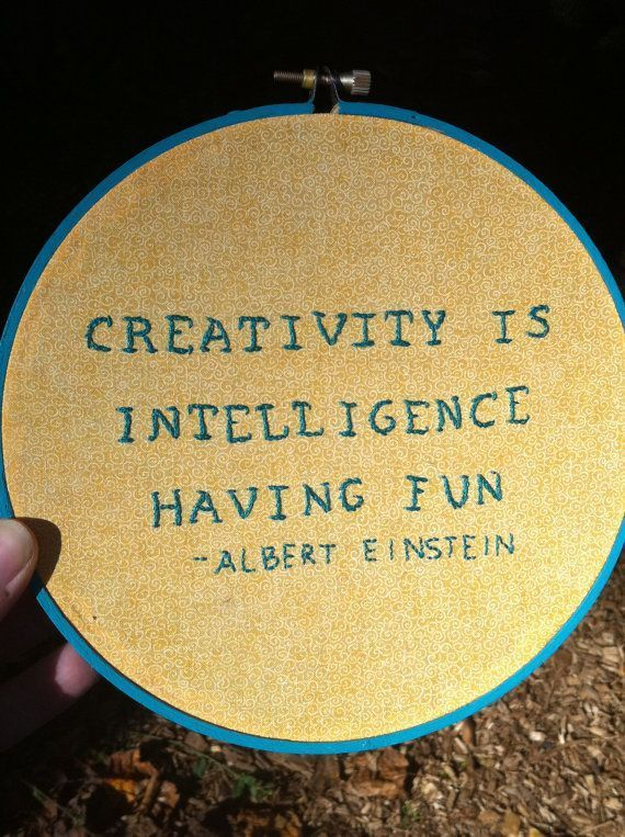 Albert Einstein Hand Embroidery Quote 7 By Ladyjanelongstitches