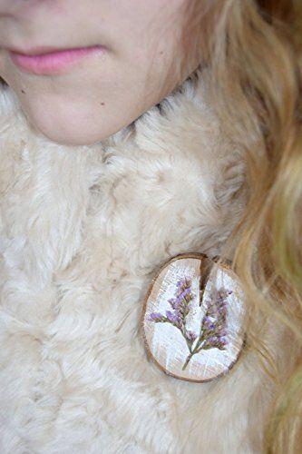 Dried flower brooch Real flower jewelry Purple wood brooch Scarf shawl clothing accessory Floral jewelry Rustic pin Wood pin resin jewelry Flower pin Wood pin Resin jewelry Woman gift Mom gift