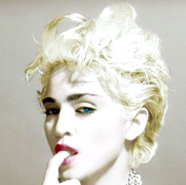 Madonna With Blond Hair Madonna Madonna 80s Blonde Hair