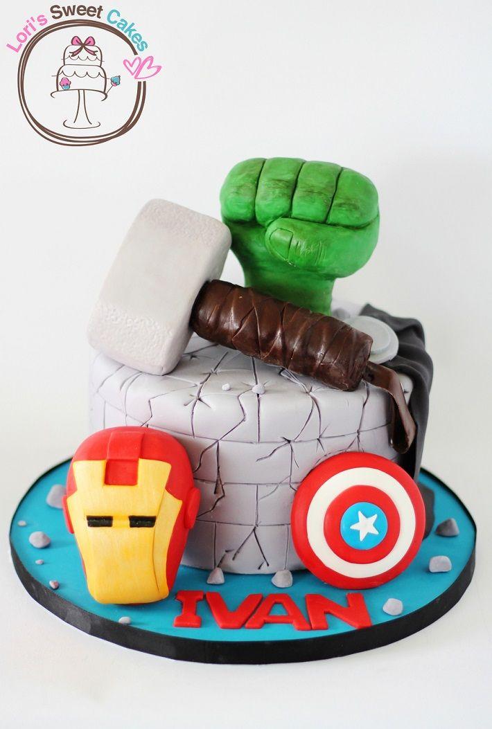 Avengers Cake Design Inspiration On Craftsy Single Tier Cake