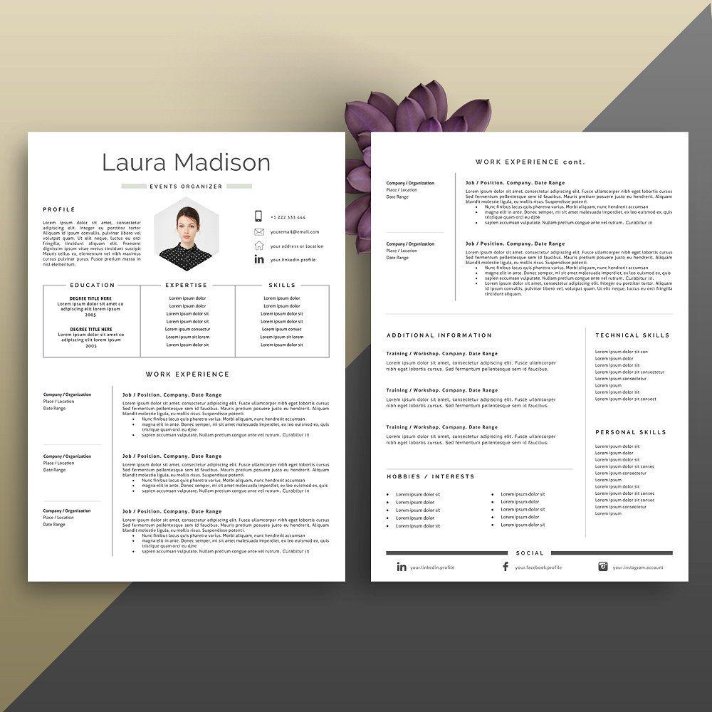 Resume Template + Cover Letter By PortlandStudio On