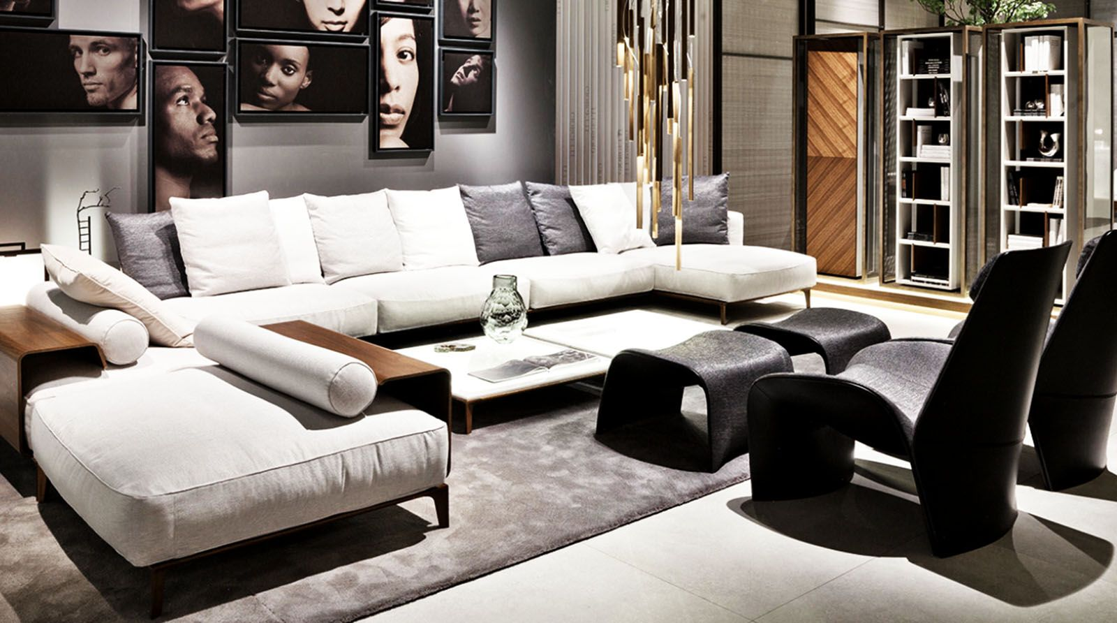 Contemporary living room, Home, Luxury interior