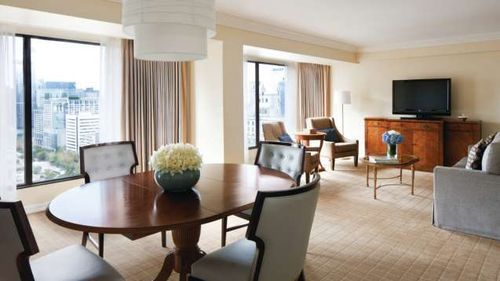 now that's a room for a family of five...Four Seasons Vancouver
