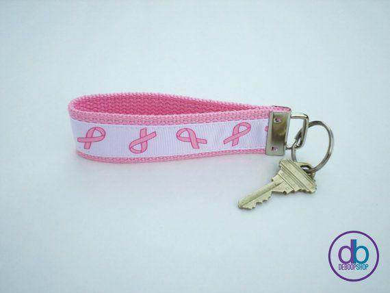 Keyring  Wristlet  Breast Cancer Awareness Inspired by DeBoopShop, $7.00 #keychain #awarenessribbon #breastcancer