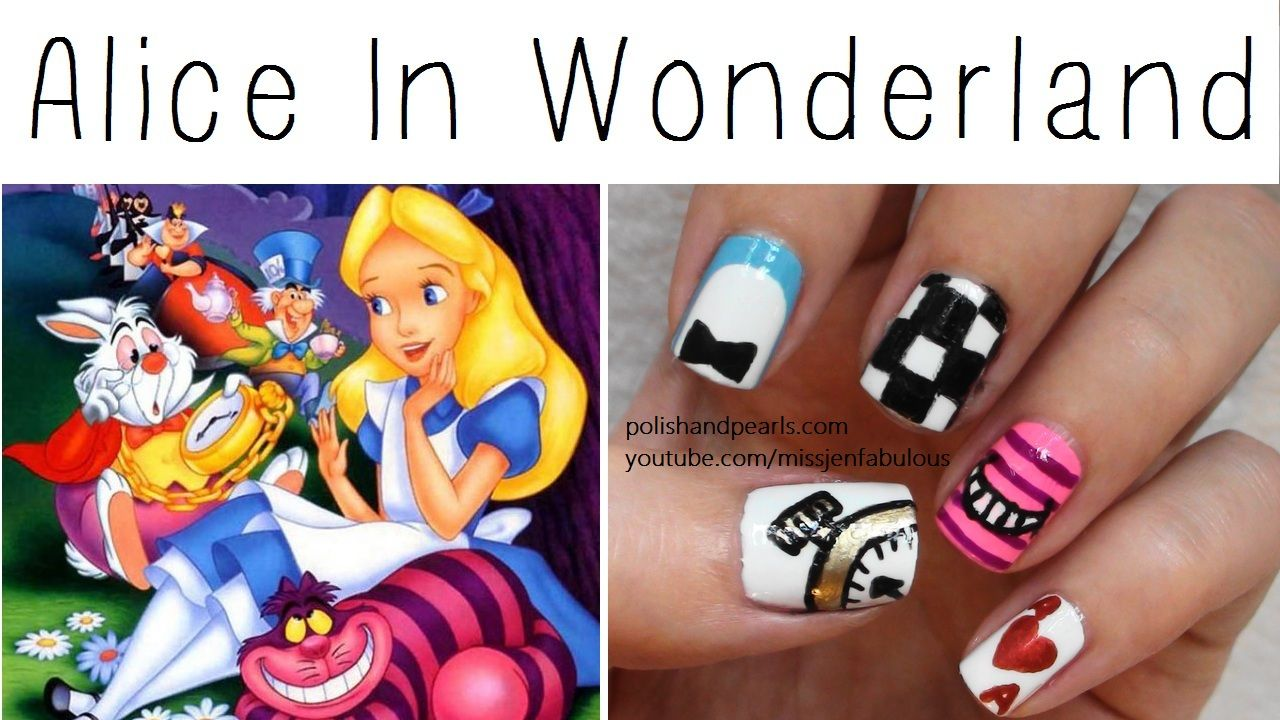 alice in wonderland nails | Nail ideas to try | Pinterest