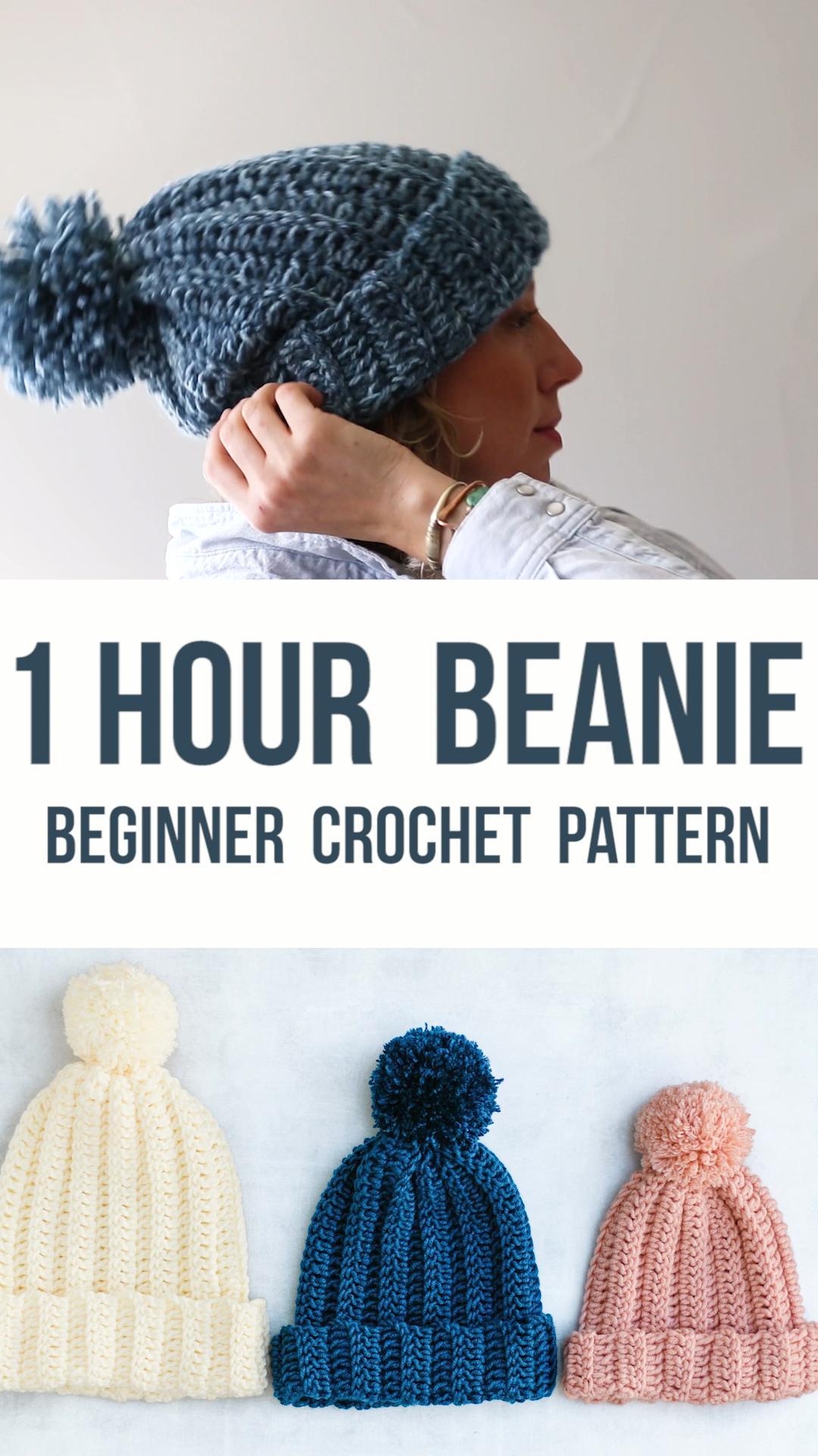 Modèle gratuit de chapeau au crochet facile – Faites ce chapeau en 1 heure!   – trend