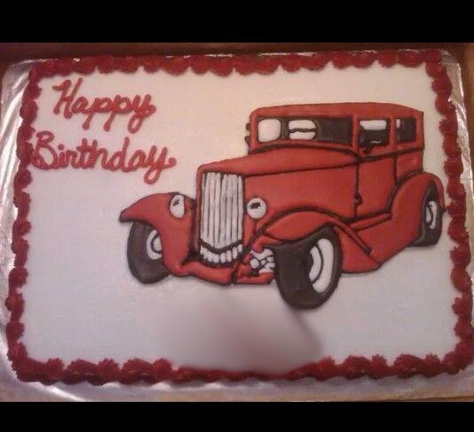 Phenomenal 1930S Antique Car Cake Car Cake Cars Birthday Cake Happy Funny Birthday Cards Online Elaedamsfinfo