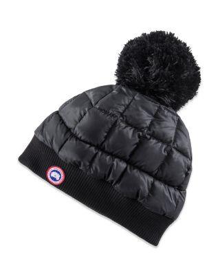 1c597f54 CANADA GOOSE Down Pom Toque Hat. #canadagoose #hat   Canada Goose ...